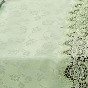 Trilho de Mesa com Bordado Guipir Fácil de Limpar 45x170cm Avulso - Veneza Chá Verde - Dui Design