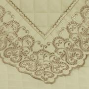 Enxoval 10 peças com Cobre-leito Queen Cetim de Algodão 300 fios com Bordado Inglês - Venice Marfim e Camurça - Dui Design