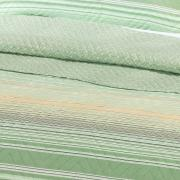 Kit: 1 Cobre-leito Solteiro Bouti de Microfibra Ultrasonic Estampada + 1 Porta-travesseiro - Verano Verde - Dui Design
