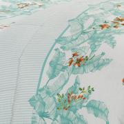 Edredom Queen Percal 180 fios - Verena Acqua - Dui Design