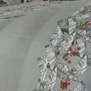 Jogo de Cama Queen Percal 180 fios - Verena Cinza - Dui Design