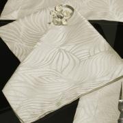 Kit: 4 Guardanapos 50x50cm - Vernom Bege - Dui Design