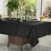 Toalha de Mesa Fácil de Limpar Quadrada 4 Lugares 160x160cm - Vernom Preto - Dui Design