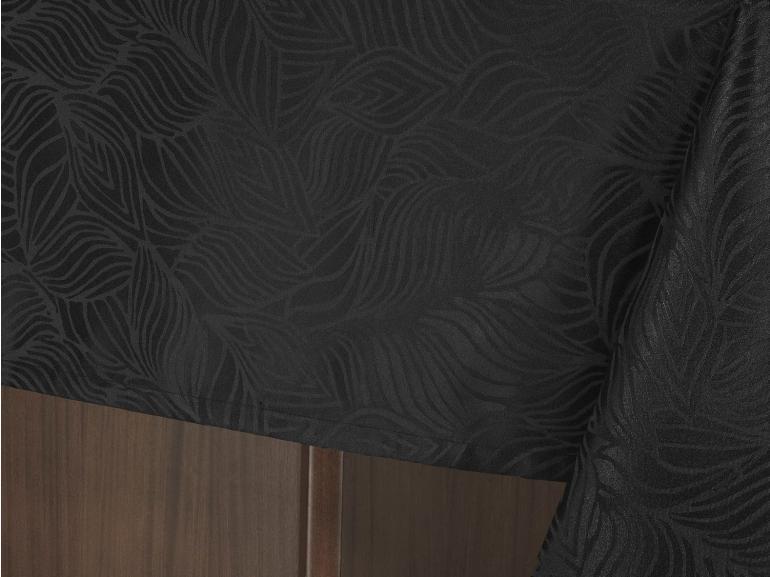 Toalha de Mesa Fácil de Limpar Retangular 8 Lugares 160x270cm - Vernom Preto - Dui Design
