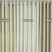 Cortina Blackout com Linho 1,70m de Altura para Varão entre 1,80m e 2,00m de Largura - Viena - Dui Design