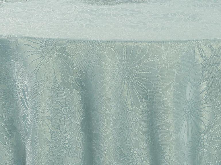 Toalha de Mesa Fácil de Limpar Redonda 220cm - Viena Azul Claro - Dui Design