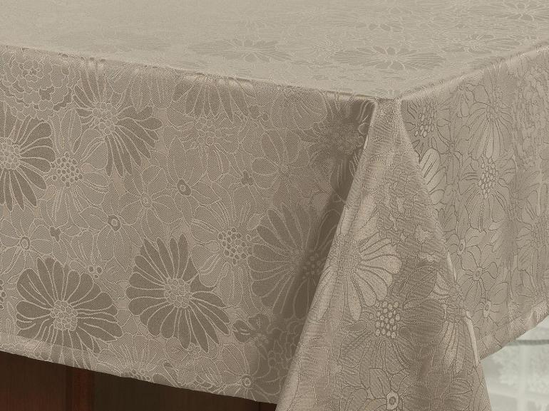 Toalha de Mesa Fácil de Limpar Retangular 8 Lugares 160x270cm - Viena Noz Moscada - Dui Design
