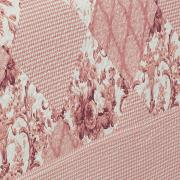 Kit: 1 Cobre-leito King Bouti de Microfibra Ultrasonic Estampada + 2 Porta-travesseiros - Violet Rosa - Dui Design