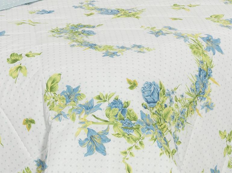 Kit: 1 Cobre-leito Solteiro + 1 Porta-travesseiro 150 fios - Vitale Azul - Dui Design