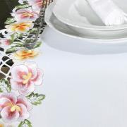 Trilho de Mesa com Bordado Richelieu 45x170cm Avulso - Vitória Rosa - Dui Design