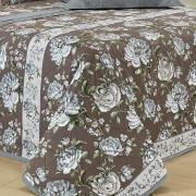 Kit: 1 Cobre-leito Solteiro + 1 Porta-travesseiro Percal 180 fios 100% Algodão - Victória Stone - Dui Design