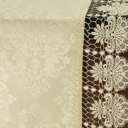 Trilho de Mesa com Bordado Guipir Fácil de Limpar 45x170cm Avulso - Vitoriana Champagne - Dui Design
