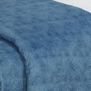 Kit: 1 Cobre-leito Casal Bouti de Microfibra Ultrasonic Estampada + 2 Porta-travesseiros - Vivi Jeans - Dui Design
