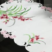 Trilho de Mesa com Bordado Richelieu 40x85cm Avulso - Vivian Rosa - Dui Design