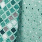 Kit: 1 Cobre-leito King + 2 Porta-travesseiros 150 fios - Walter Azul - Dui Design