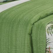 Kit: 1 Cobre-leito Casal Bouti de Microfibra Ultrasonic Estampada + 2 Porta-travesseiros - Wiki Verde - Dui Design