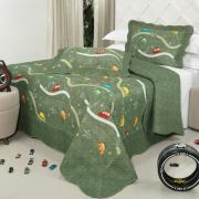 Kit: 1 Cobre-leito Casal Kids Bouti de Microfibra PatchWork Ultrasonic + 2 Porta-travesseiros - Wingo Militar - Dui Design