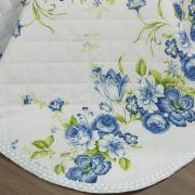 Enxoval Solteiro com Cobre-leito 5 peças Percal 180 fios - Iohana Azul - Dui Design