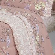 Jogo de Cama Casal Percal 200 fios - Zani Rosa Velho - Dui Design